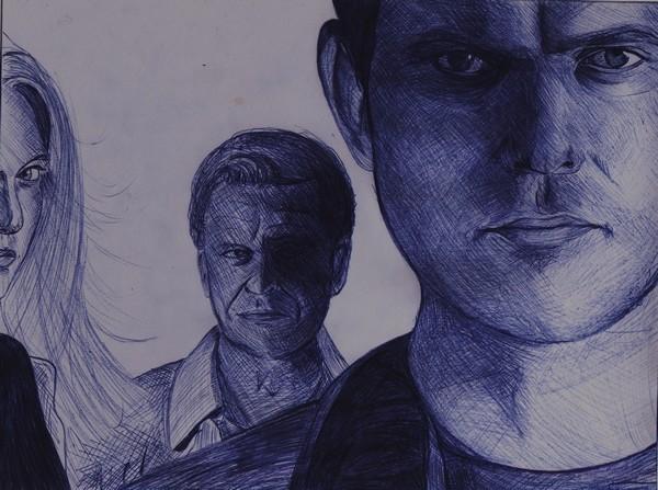 John Noble, Joshua Jackson, Anna Torv by Mydeus